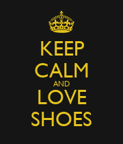 KEEP CALM AND LOVE SHOES - Personalised Large Wall Decal