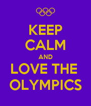 KEEP CALM AND LOVE THE  OLYMPICS - Personalised Large Wall Decal