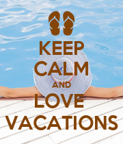 KEEP CALM AND LOVE  VACATIONS - Personalised Large Wall Decal