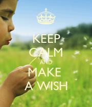 KEEP CALM AND MAKE  A WISH - Personalised Large Wall Decal