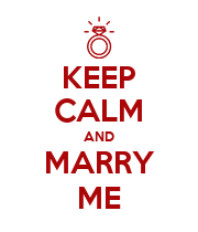 KEEP CALM AND MARRY ME - Personalised Poster large