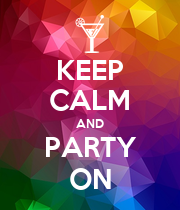 KEEP CALM AND PARTY ON - Personalised Large Wall Decal