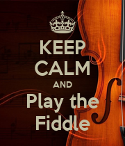 KEEP CALM AND Play the Fiddle - Personalised Poster large