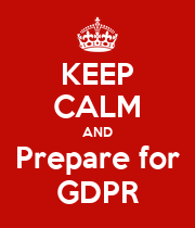 KEEP CALM AND prepare for GDPR - Personalised Large Wall Decal