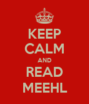 KEEP CALM AND READ MEEHL - Personalised Large Wall Decal
