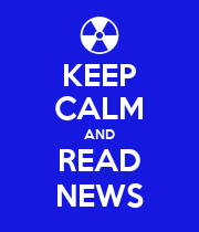 KEEP CALM AND READ NEWS - Personalised Poster large
