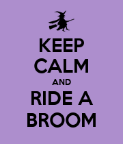 KEEP CALM AND RIDE A BROOM - Personalised Large Wall Decal