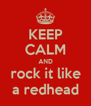 KEEP CALM AND rock it like a redhead - Personalised Large Wall Decal