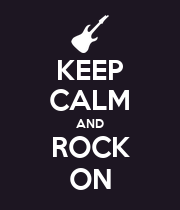 KEEP CALM AND ROCK ON - Personalised Large Wall Decal