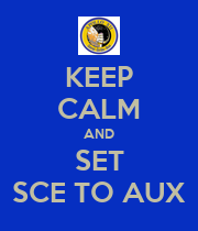 KEEP CALM AND SET SCE TO AUX - Personalised Large Wall Decal