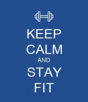 KEEP CALM AND STAY FIT - Personalised Poster large