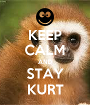 KEEP CALM AND STAY KURT - Personalised Poster large