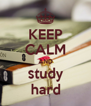KEEP CALM AND study hard - Personalised Poster large