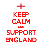 KEEP CALM AND SUPPORT ENGLAND - Personalised Poster large