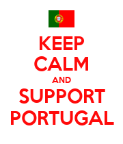 KEEP CALM AND SUPPORT PORTUGAL - Personalised Large Wall Decal
