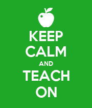 KEEP CALM AND TEACH ON - Personalised Large Wall Decal