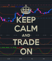 KEEP CALM AND TRADE ON - Personalised Large Wall Decal