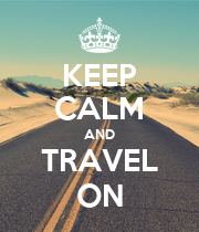 KEEP CALM AND TRAVEL ON - Personalised Poster large