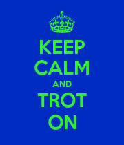 KEEP CALM AND TROT ON - Personalised Poster large