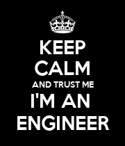KEEP CALM AND TRUST ME I'M AN  ENGINEER - Personalised Large Wall Decal