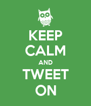 KEEP CALM AND TWEET ON - Personalised Poster large