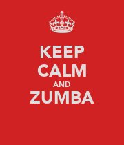 KEEP CALM AND ZUMBA  - Personalised Large Wall Decal