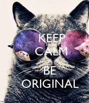 KEEP     CALM         BE    ORIGINAL - Personalised Poster large