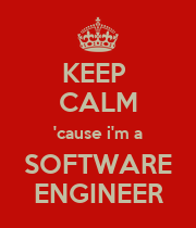 KEEP  CALM 'cause i'm a SOFTWARE ENGINEER - Personalised Poster large