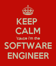KEEP  CALM 'cause i'm the SOFTWARE ENGINEER - Personalised Poster large