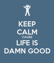 KEEP CALM 'CAUSE LIFE IS DAMN GOOD - Personalised Large Wall Decal
