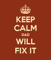 KEEP CALM DAD WILL FIX IT - Personalised Poster large