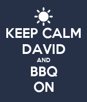 KEEP CALM DAVID AND BBQ ON - Personalised Poster large