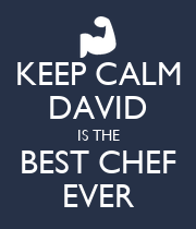KEEP CALM DAVID IS THE BEST CHEF EVER - Personalised Large Wall Decal