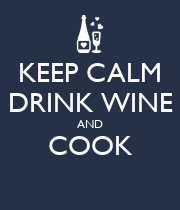 KEEP CALM DRINK WINE AND COOK  - Personalised Poster large
