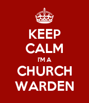 KEEP CALM I'M A CHURCH WARDEN - Personalised Poster large