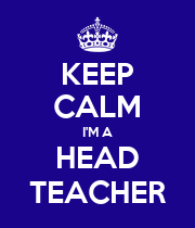 KEEP CALM I'M A HEAD TEACHER - Personalised Poster large