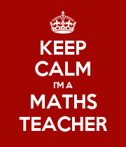 KEEP CALM I'M A MATHS TEACHER - Personalised Large Wall Decal