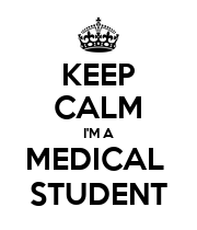 KEEP CALM I'M A MEDICAL  STUDENT - Personalised Poster large