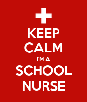 KEEP CALM I'M A SCHOOL NURSE - Personalised Poster large