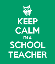 KEEP CALM I'M A SCHOOL TEACHER - Personalised Poster large