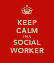 KEEP CALM I'M A SOCIAL WORKER - Personalised Large Wall Decal