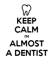 KEEP CALM I'M ALMOST A DENTIST - Personalised Large Wall Decal