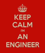 KEEP CALM I'M AN ENGINEER - Personalised Poster large