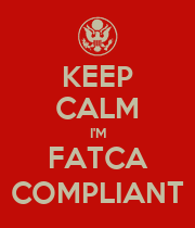 KEEP CALM I'M FATCA COMPLIANT - Personalised Poster large