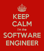 KEEP  CALM i'm the SOFTWARE ENGINEER - Personalised Poster large