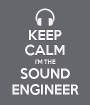 KEEP CALM I'M THE SOUND ENGINEER - Personalised Poster large