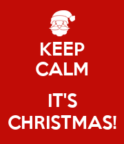 KEEP CALM  IT'S CHRISTMAS! - Personalised Large Wall Decal