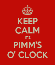 KEEP CALM IT'S PIMM'S O' CLOCK - Personalised Large Wall Decal