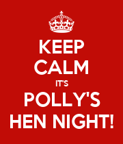 KEEP CALM IT'S POLLY'S HEN NIGHT! - Personalised Large Wall Decal