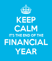 KEEP CALM IT'S THE END OF THE FINANCIAL YEAR - Personalised Large Wall Decal